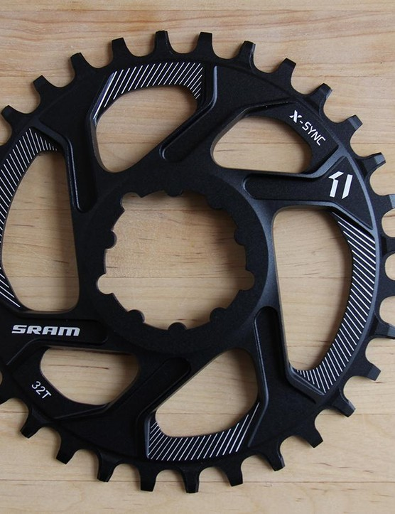 SRAM's new direct-mount chainrings for 1x11 drivetrains give riders a wider range of gearing options
