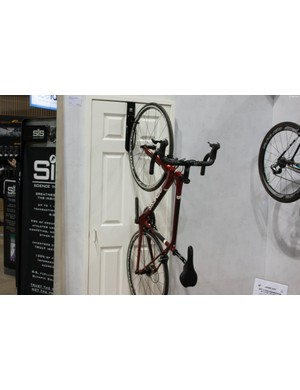 Gear Up's Off The Door rack is a smart storage solution for those short of space, it's tough enough to hold a mountain bike and its tool-free installation means it's ideal for rented properties