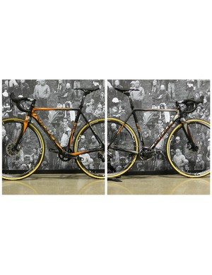 The 2015 Ridley X-Night SL range can be purchased with a split personality and by that we mean a paintjob that differs on each side