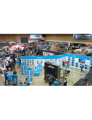 The IceBike expo plays host to some of cycling's biggest brands
