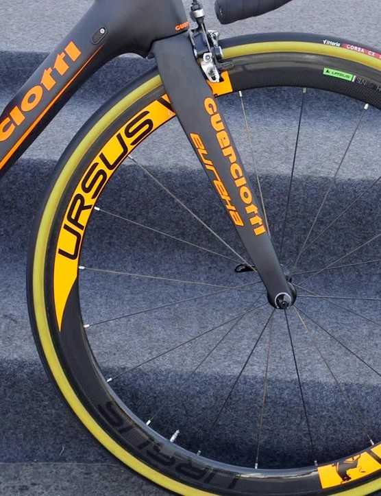The Ursus Miura T45 wheels are an unusual choice