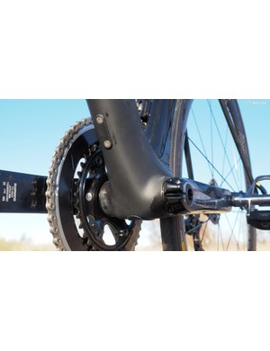 Canyon equips the Aeroad CF SLX frame with press-fit bottom bracket cups