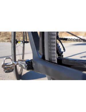 Chainstays are broad and tall to help keep the rear end rigid