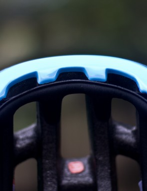 Big vents under the brim of the helmet keep sweat from dripping into your sunnies