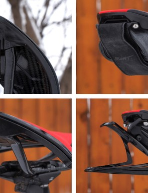Two threaded holes in the base can accept one of three new SWAT accessories: the Bandit low-profile flat repair kit; the Reserve Rack single or double bottle cage holder; and a rear-facing GoPro camera mount