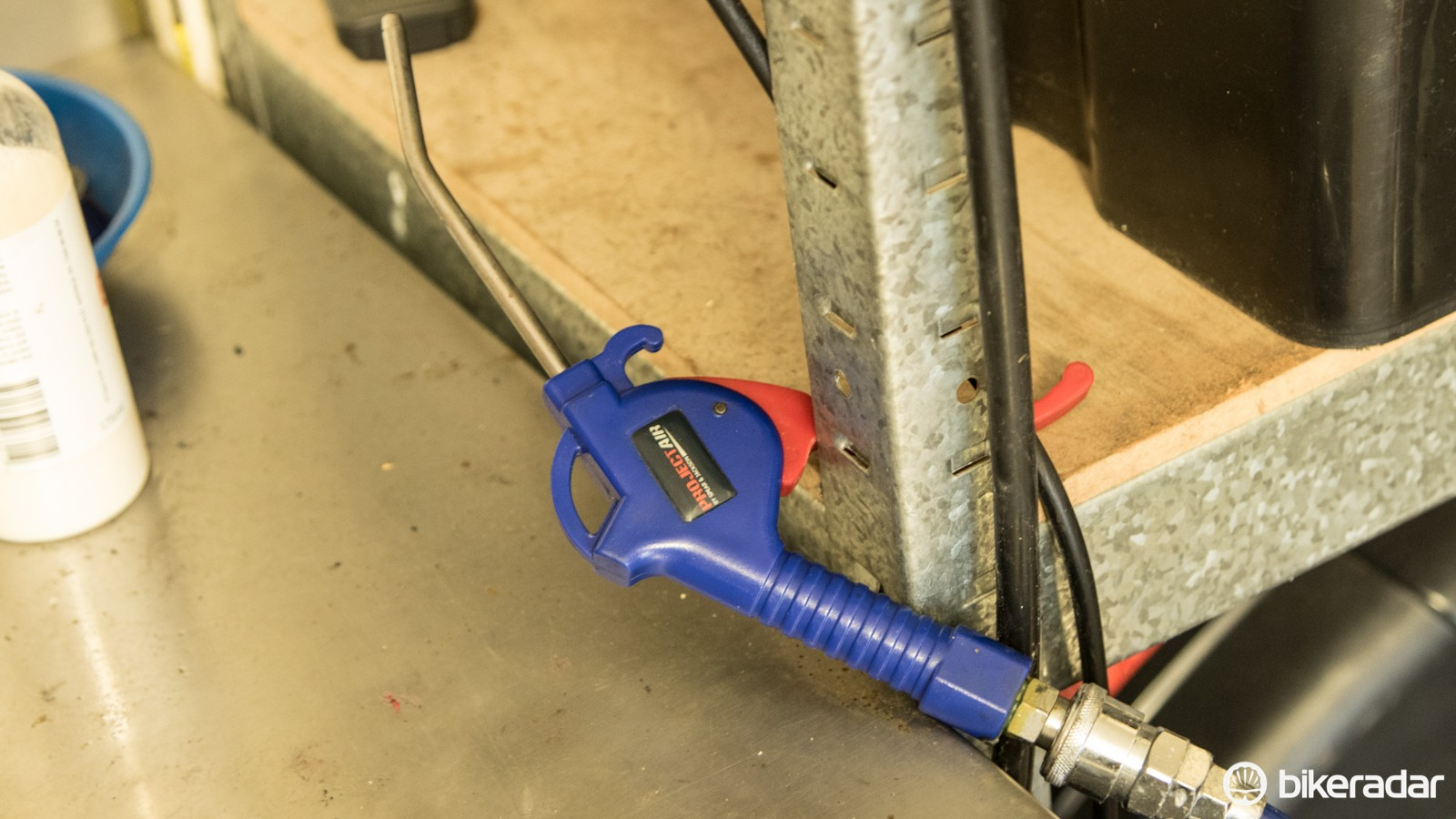 A blowgun is the other attachment you'll want with your air compressor