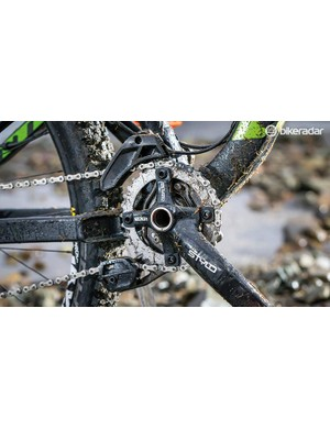 If you're a regular chain-dropper, the full top and bottom guide on the Nukeproof should make this about as secure as it comes on a trail bike