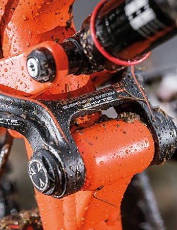 Linkage-controlled suspension gives Whyte's engineers more control over its characteristics