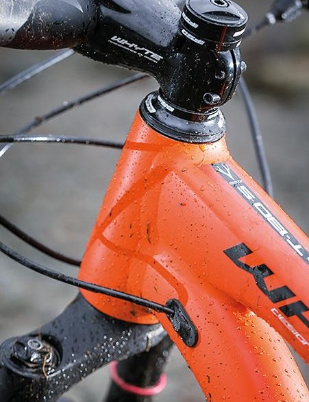 The Whyte is covered in nicely thought-out UK specific details such as sealed hose guides