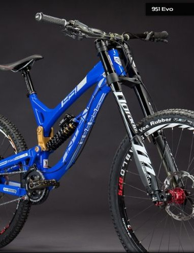 Intense Cycles' 951 EVO DH bike looks low and fast - just the thing for downhill racing
