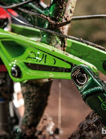 It's possible that Trek will incorporate its geometry-adjusting Mino Link into the design. The Mino Link is currently used on the Session and Remedy; it allows the rider to adjust the head tube angle and bottom bracket height