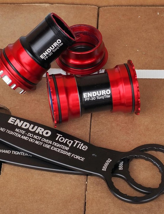 Enduro's new TorqTite bottom bracket promises to virtually eliminate creaking by virtue of its clever thread-together design
