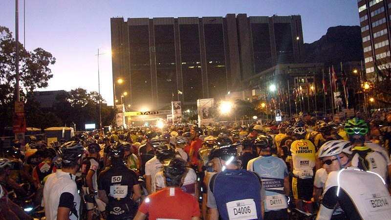 The start of Cape Town's Cape Argus is like no other on the planet
