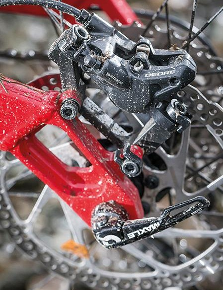 Shimano Deore stoppers are top performers, even if they lack the kudos of fancier brakes
