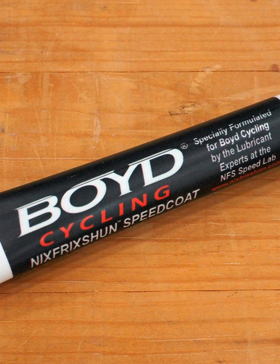 Joshua Simonds at NixFrixShun developed a special freehub body lubricant for Boyd Cycling's new Eternity hub
