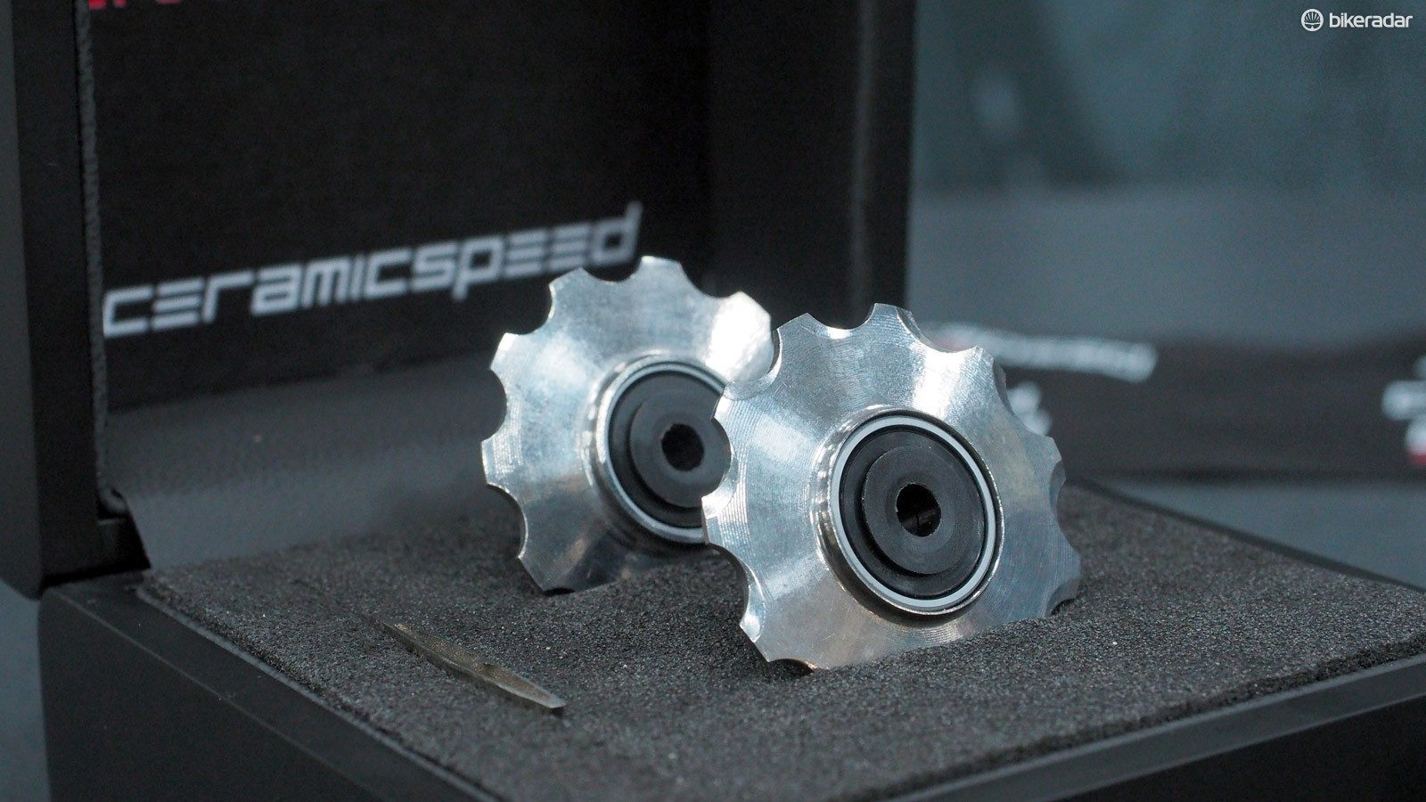 CeramicSpeed has introduced a set of outrageously priced 3D-printed titanium derailleur pulleys. If you have a spare £660 handy, they're yours