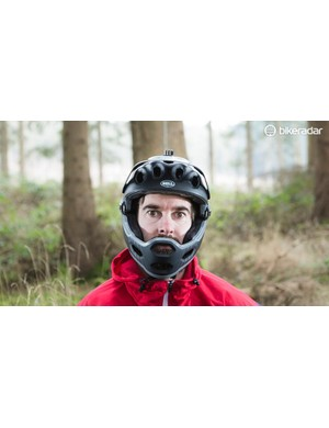 Full-face mode is a real confidence booster, though the fit isn't quite as snug as with a purpose-built helmet