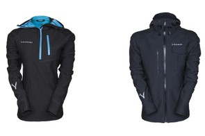 Voormi's first garments featuring the Core Construction technology are the Access Hydro (left) and Drift Hydro (right)