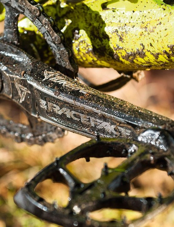 Race Face's Turbine Cinch cranks head up the 1x11 transmission