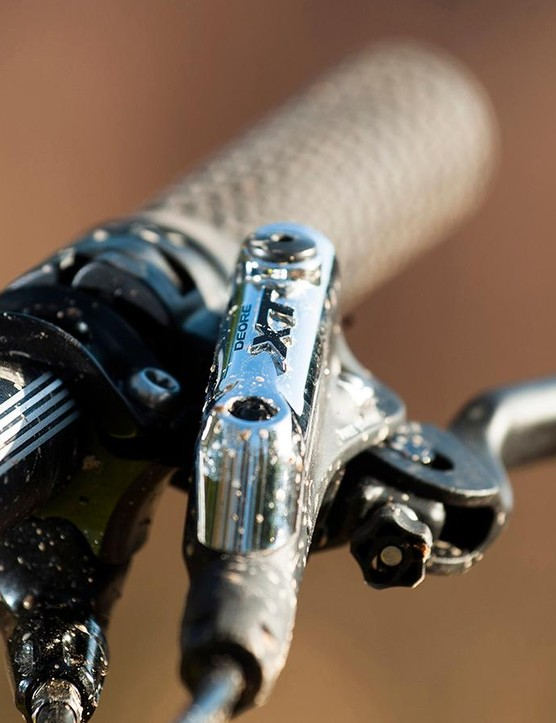 Our top-end build featured an X1 drivetrain but Shimano gear still brings you to a halt