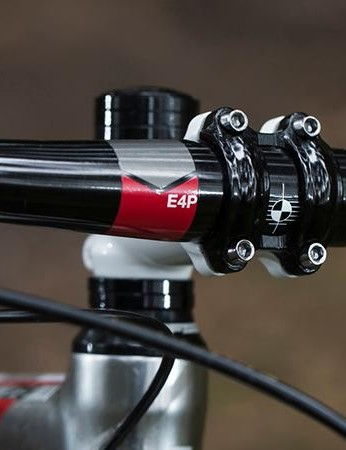 Boardman provides the bars and stem from its own stable – that's an E4P SL 710mm bar and an E4P SL 70mm stem