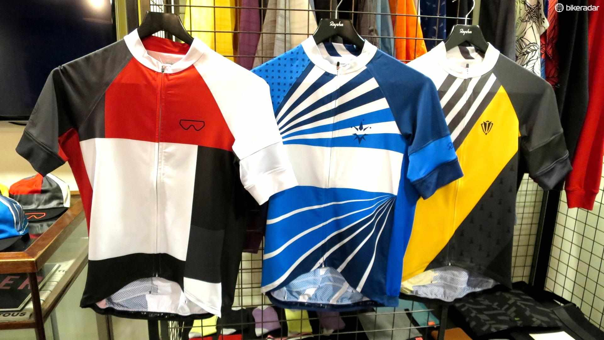Rapha's new trade team jerseys take inspiration from the La Vie Claire, ANC and Renault teams