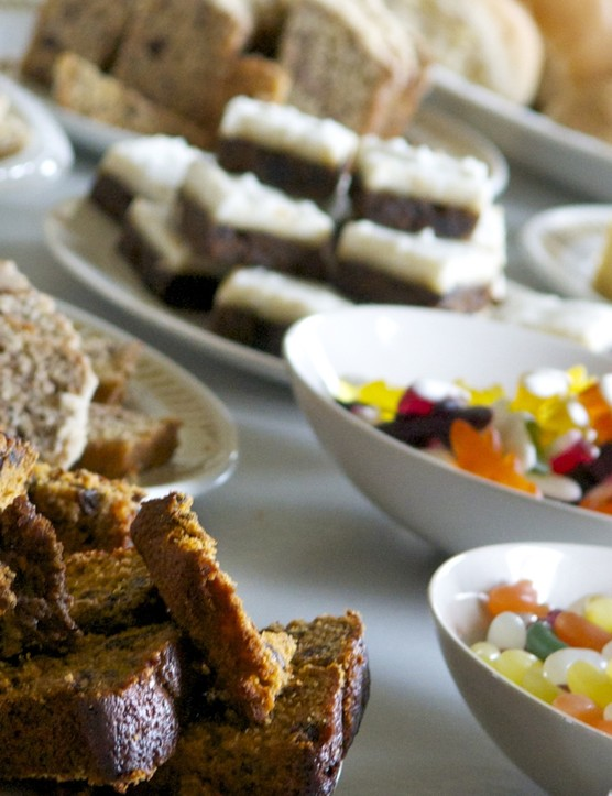 It's hard to resist a tempting spread at feed stations