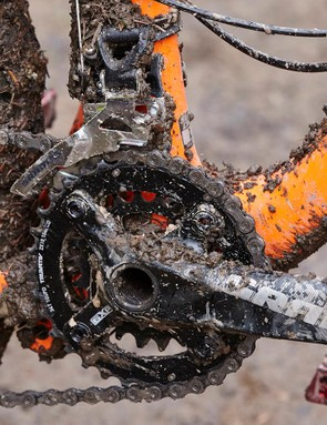 The gearing is a Shimano XT/SLX mix