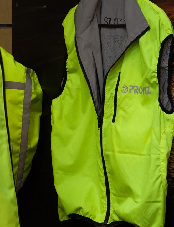 The Proviz Switch jacket is a reversible garment that allows its user to pick from a full-on high-vis yellow are a toned-down yet reflective grey, as found on other Proviz kit