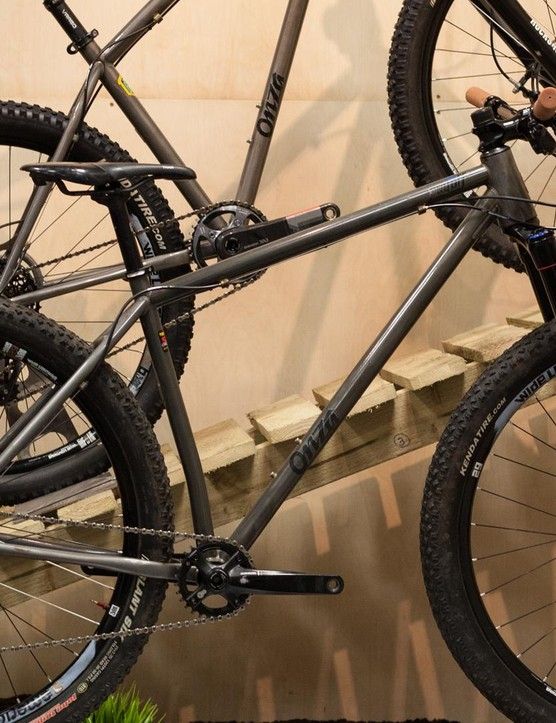 Prototypes of Onza's forthcoming Jackpot 27.5in and Payoff 29in hardtails