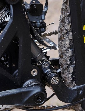 This 'cage' in the seat tube is the physical and structural centre of the alloy frame and twin-link Zero suspension system