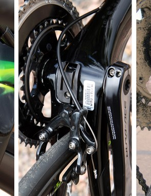 Trek has demonstrated a willingness to adopt unconventional brake mounts and locations in the past but the bike Mollema rides shows a move away from the current Madone's somewhat problematic bottom bracket-situated rear caliper