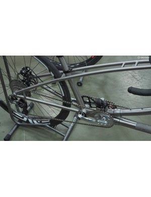 The DaVinci tandem drivetrain allows the captain and stoker to pedal at difference cadences