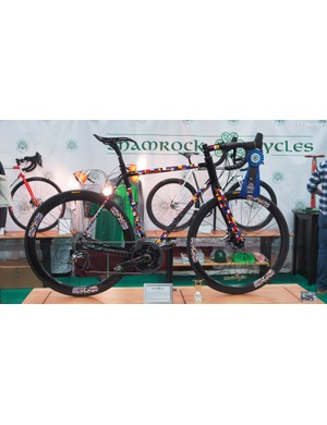 Shamrock Cycles won the 'Best Paint' competition for this stunning disc brake road bike, finished by Corby Concepts