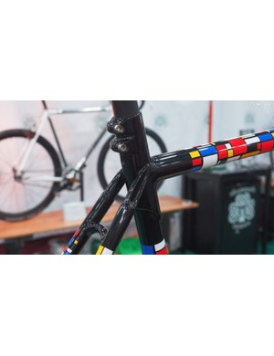 The seatpost binder is actually a modified steerer clamp borrowed from a stem