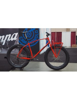 Curtis Inglis took home the 'Best Mountain Bike' prize for his Retrotec fat bike