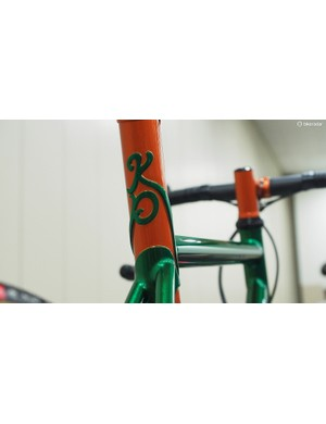 Sure, a typical name decal on the top tube does the job but carving your initials into the seat lug is way more personal