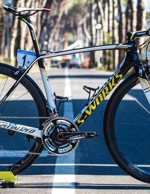 Contador will ride his new Specialized S-Works Tarmac AC'15 throughout the 2015 season