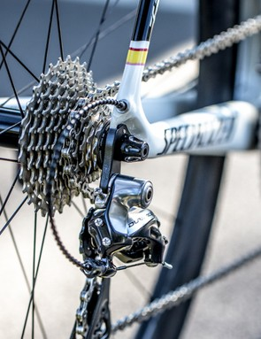 Shimano provides the derailleurs, at least until FSA's electronic group rears its head