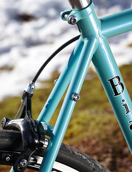 A Bianchi complete with rack mounts. Whatever next?