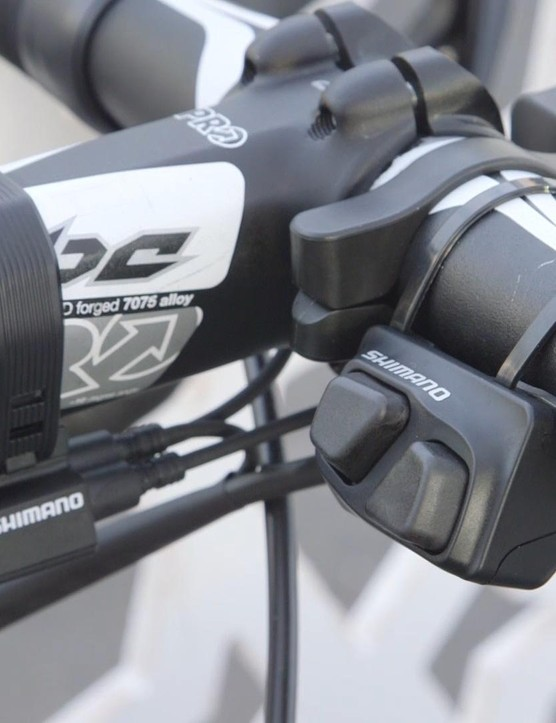 Shift option number three - handlebar mounted climbing shifters