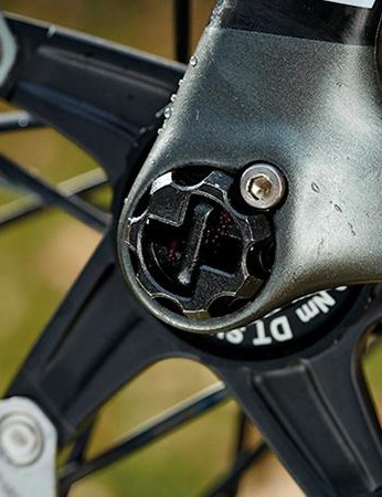 The RAT thru-axle combines stiffness and security with the speed of a standard quick release