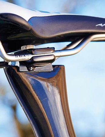 The Air's seatpost clamp can be moved into four positions, altering the angle from 73 through to 75 degrees