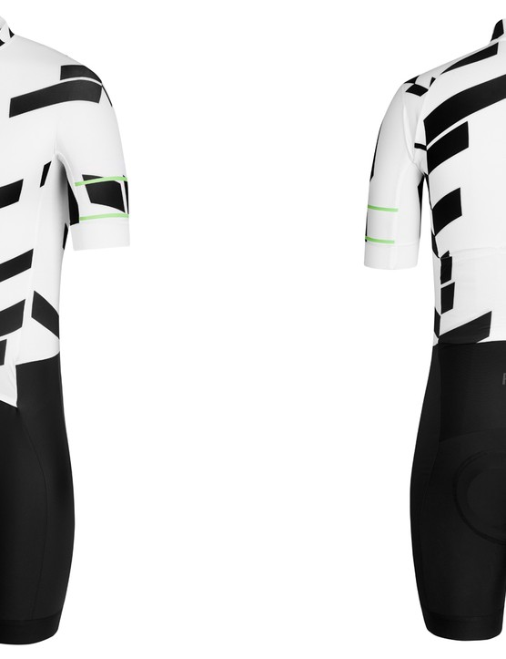 The Pro Team Aerosuit is now available in the distinctive Data Print colours