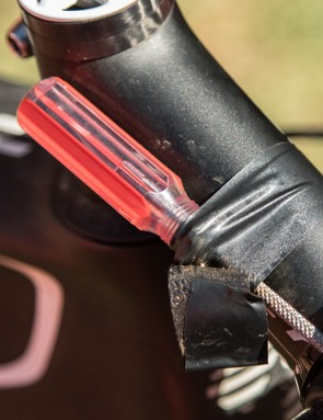 Other riders put more general plug tools wherever they can - it's not always the safest or most secure method
