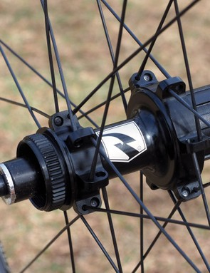 The disc-compatible road hubs feature a splined Centerlock interface for use with Shimano's heat-shedding Ice Tech rotors