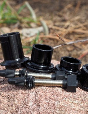 Interchangeable end caps and tubeless valve stems are included with the Reynolds ATR wheelset