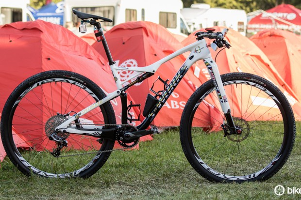 Jaroslav Kulhavy's Specialized S-Works Epic WC 29 has custom paint for the 2015 Absa Cape Epic