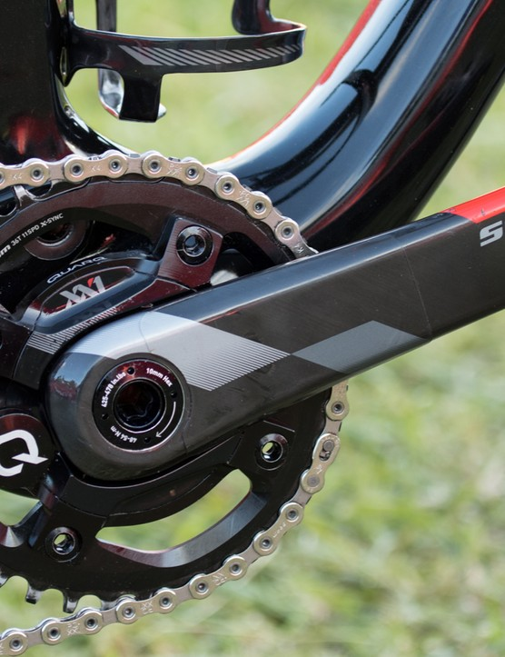 A SRAM XX1 Quarq power meter is keeping tabs on Kulhavy's impressive output - something that so far no other rider at the Cape Epic has been able to match