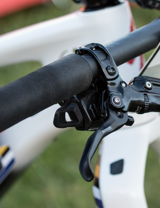 They're not branded, but these grips look very much like the hugely popular ESI silicon grips